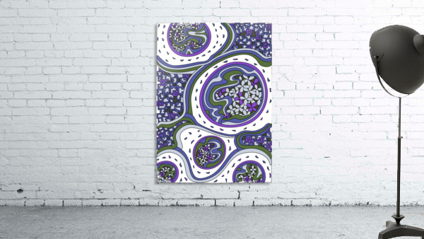 Wandering Abstract Line Art 06: Purple