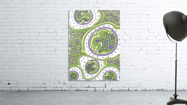 Wandering Abstract Line Art 06: Green