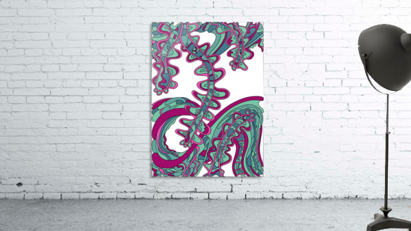 Wandering Abstract Line Art 07: Green