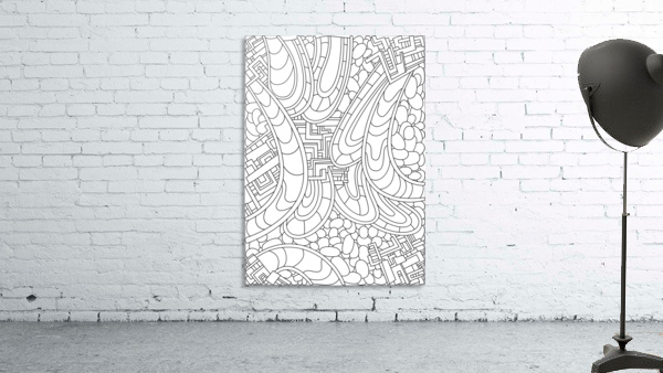 Wandering Abstract Line Art 09: Black & White