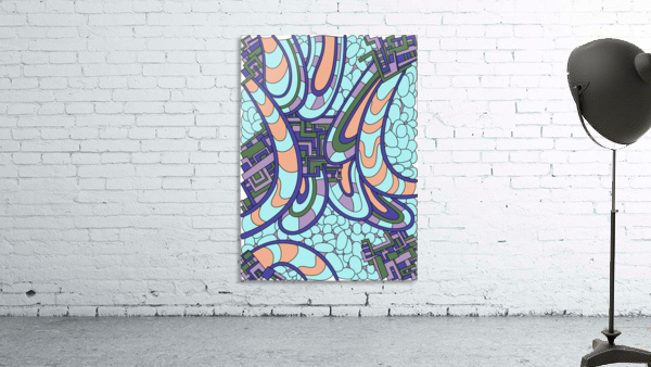 Wandering Abstract Line Art 09: