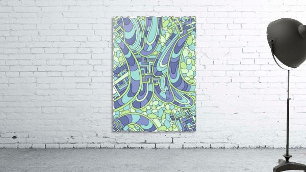 Wandering Abstract Line Art 09: Green