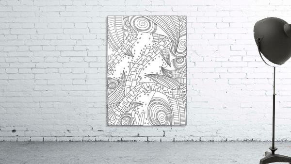 Wandering 10: black & white line art
