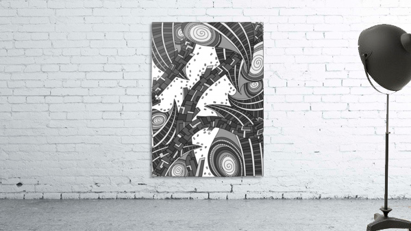 Wandering Abstract Line Art 10: Grayscale