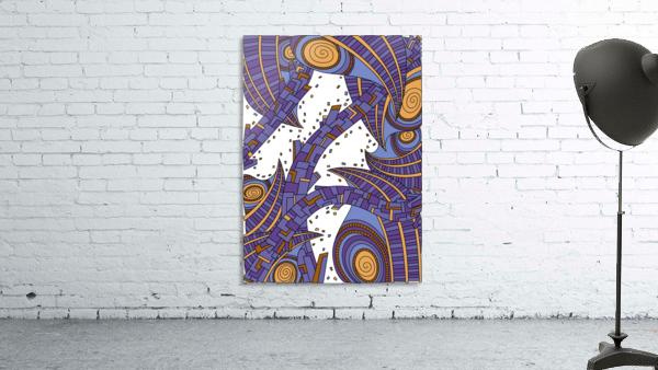 Wandering Abstract Line Art 10: Purple