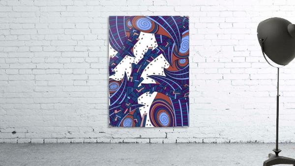 Wandering Abstract Line Art 10: Orange