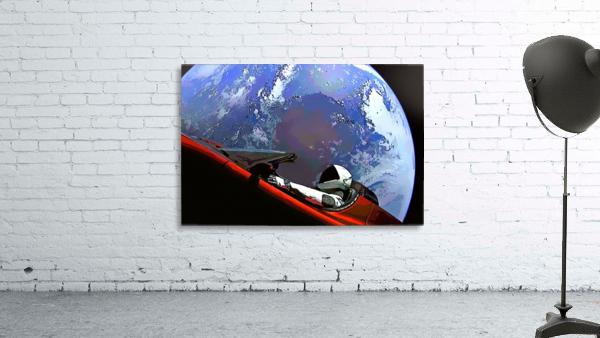 StarMan in Tesla Above Planet Earth