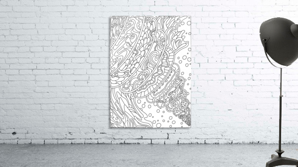 Wandering Abstract Line Art 11: Black & White