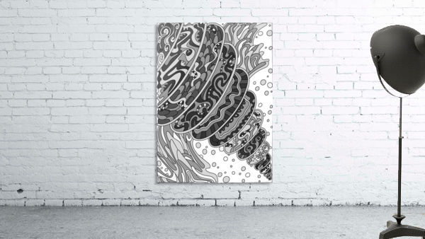 Wandering Abstract Line Art 11: Grayscale