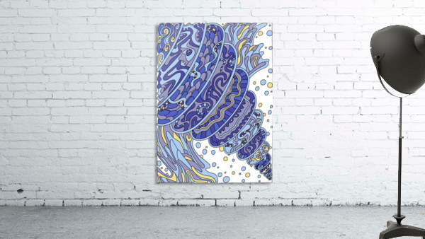 Wandering Abstract Line Art 11: Blue