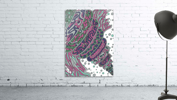 Wandering Abstract Line Art 11: Pink