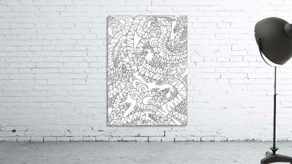 Wandering Abstract Line Art 13: Black & White