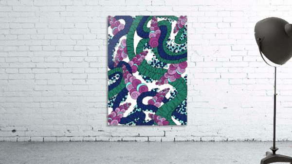 Wandering Abstract Line Art 13: Green