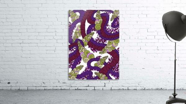 Wandering Abstract Line Art 13: Burgundy