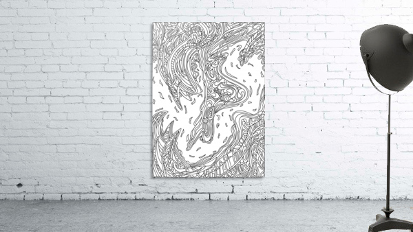 Wandering Abstract Line Art 14: Black & White