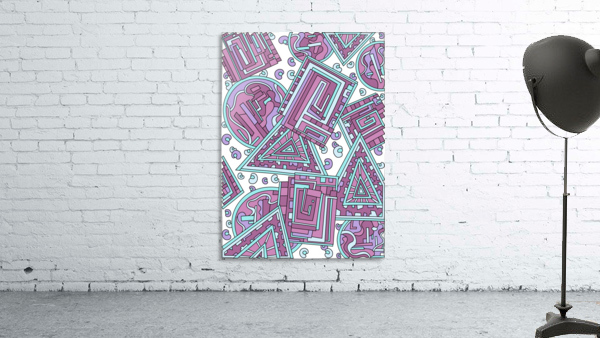 Wandering Abstract Line Art 15: Pink