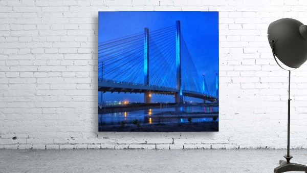 Blue Bridge In The Rain At Indian River Inlet