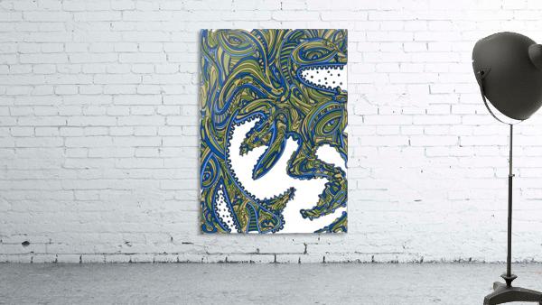 Wandering Abstract Line Art 17: Green