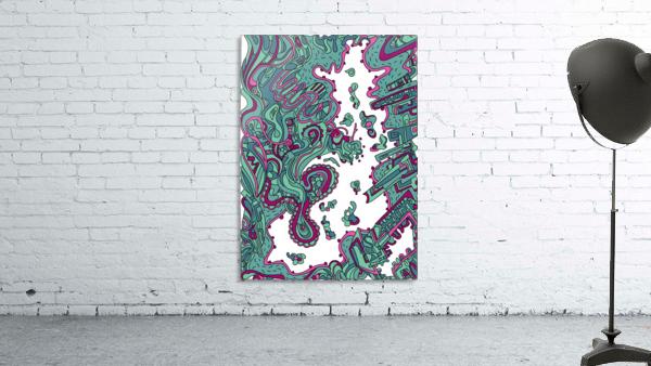 Wandering Abstract Line Art 20: Green