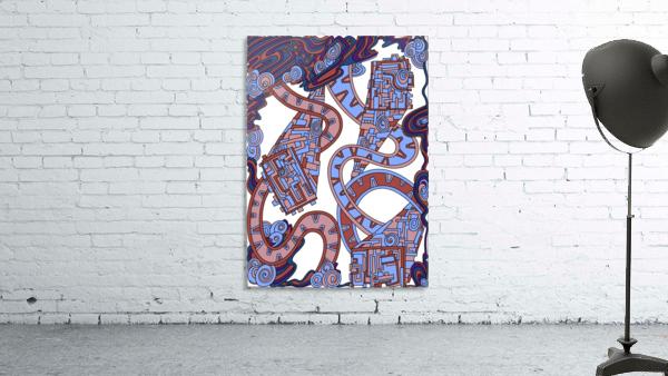 Wandering Abstract Line Art 24: Orange