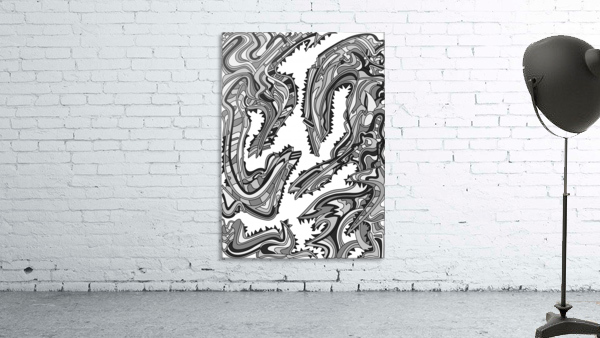 Wandering Abstract Line Art 26: Grayscale