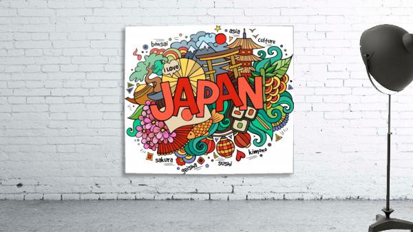 Earthquake and tsunami drawing japan illustration