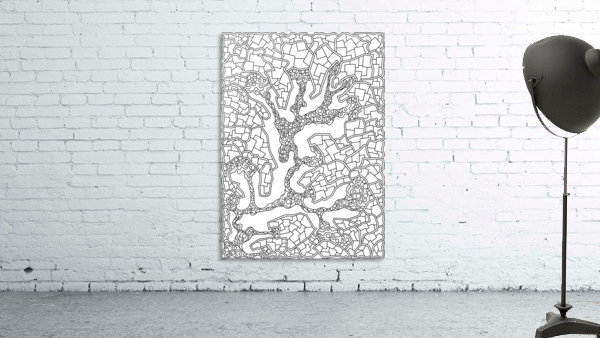 Wandering Abstract Line Art 40: Black & White
