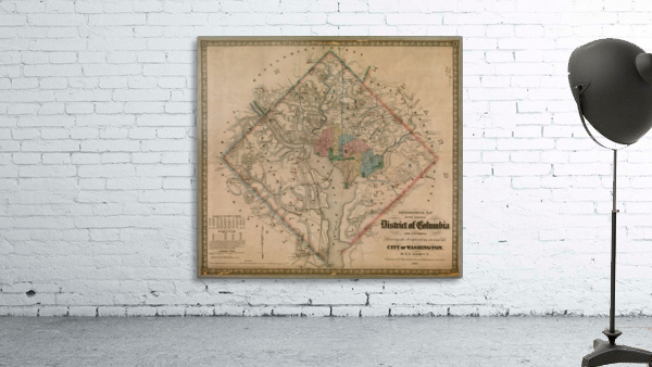 19th Century District of Columbia Map 1862