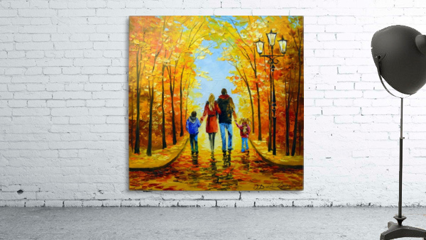 Walk with the whole family in the autumn Park