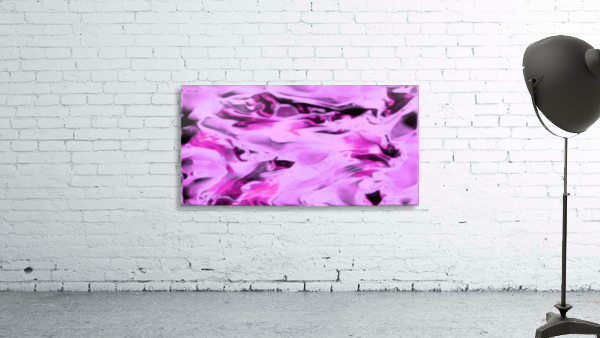Pink Flamingo - pink grey black abstract swirl abstract wall art