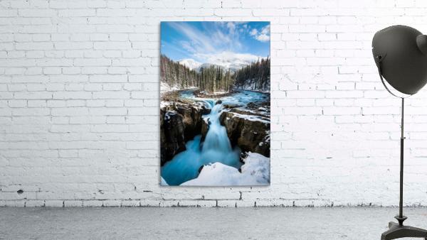 Snowy Sunwapta Falls