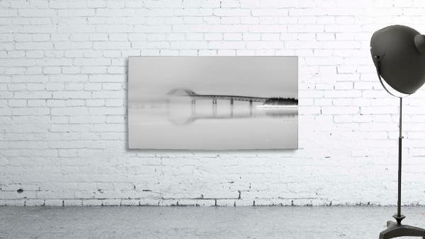 Seal Island Bridge in fog