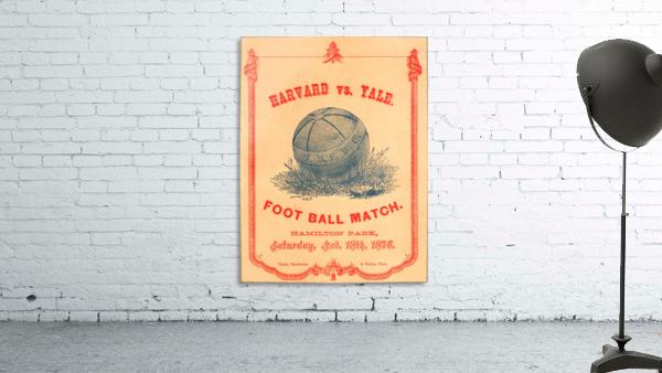 1876 Harvard vs. Yale Football Program Art