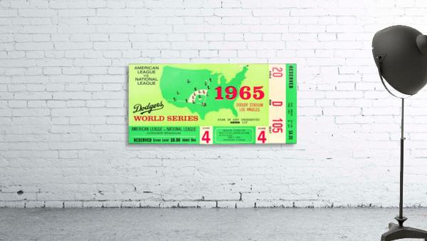 1965 World Series Ticket Stub Game 4