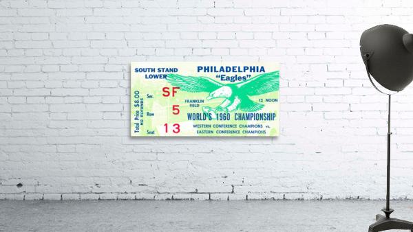 1960 Philadelphia Eagles Football Ticket