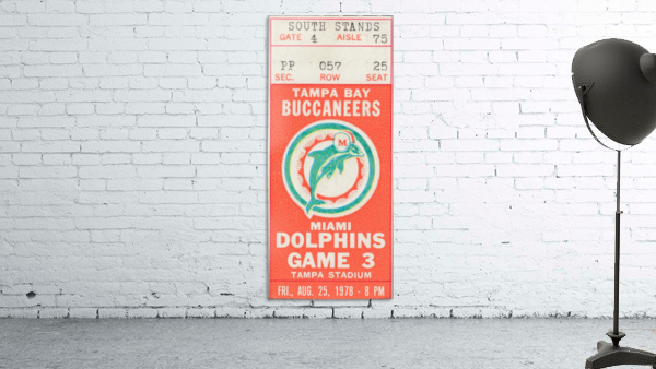 1978 Miami Dolphins Football Ticket Stub Art