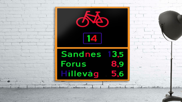 Norwegian bike route sign