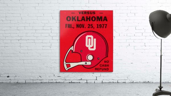 1977 Oklahoma Sooners Helmet Art