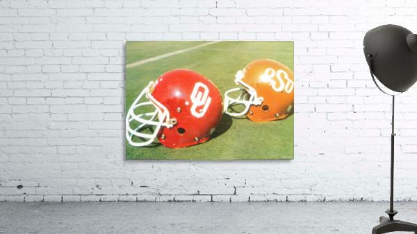1978 Oklahoma Sooners OSU Cowboys Football Helmet Art