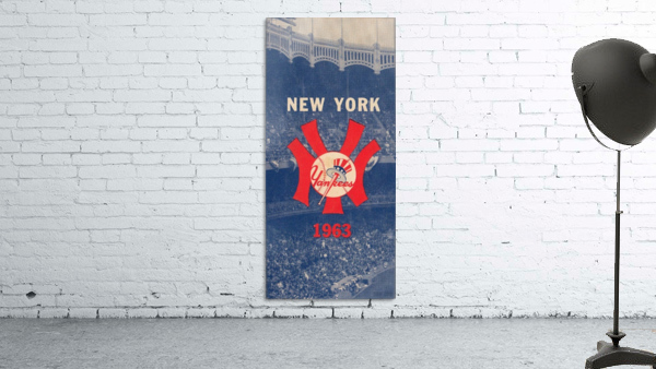 1963 New York Yankees Baseball Cover Art by Row One Brand