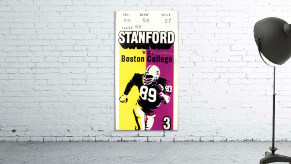 1979_College_Football_Boston College vs. Stanford_Palo Alto_Row One Brand College Art
