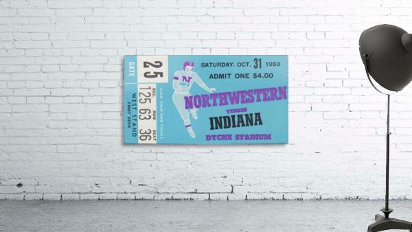 1959_College_Football_Northwestern vs. Indiana_Dyche Stadium_Row One Brand Tickets