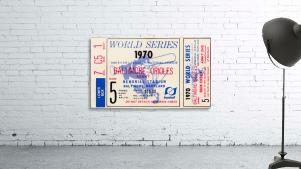 1970_Major League Baseball_World Series_Baltimore Orioles vs. Cincinnati Reds_Memorial Stadium_Row 1