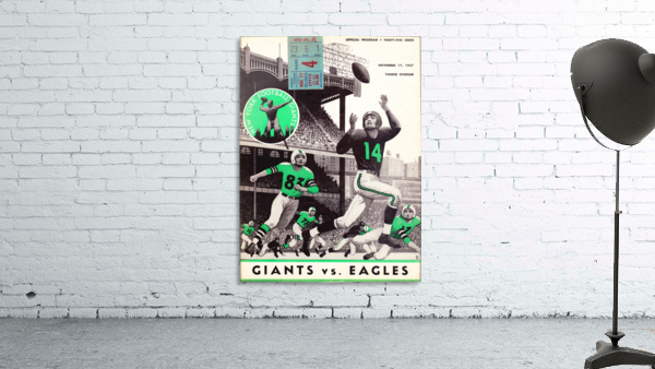 1957 New York Giants vs. Eagles Football Program Canvas