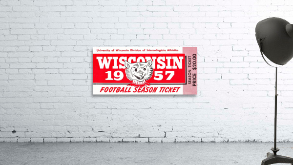 1957 Wisconsin Badgers Season Ticket