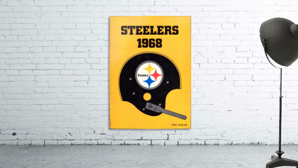 1968_National Football League_Pittsburgh Steelers_Media Guide_Row One Brand Vintage Media Guide Art
