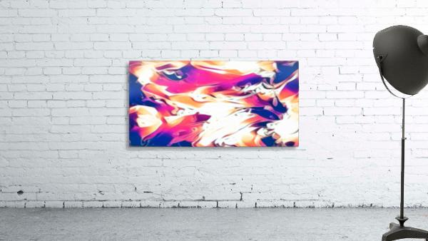 Very Berry - white blue pink orange swirl abstract wall art