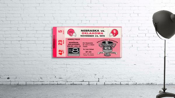 1973_College_Football_Oklahoma vs. Nebraska_Owen Field_University of Oklahoma Football Tickets