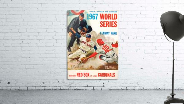 1967 World Series Program Cover Art Fenway Park