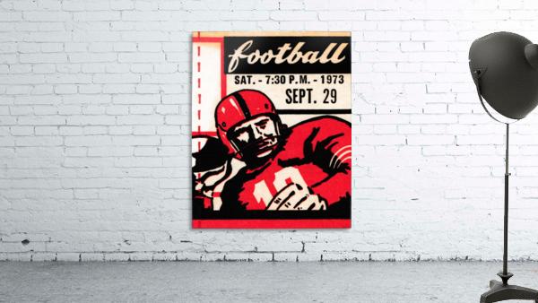 Vintage Football Art_Quarterback Artwork_Vintage Ticket Toss